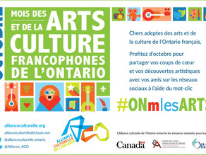 The month of October is francophone arts month!