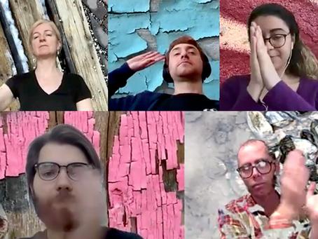 En répétition pour le Toronto Fringe Collective qui aura lieu virtuellement du 1er au 12 juillet!