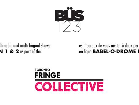 Invitation bilingue à l'acte 3 du Fringe et Babel-o-drome NUGEN 2. Ça commence aujourd'hui!