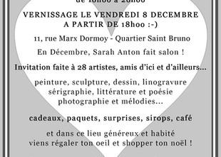 Exposition collective / Shop de noël, Anton & Friends en décembre à la galerie Le Talent c'e