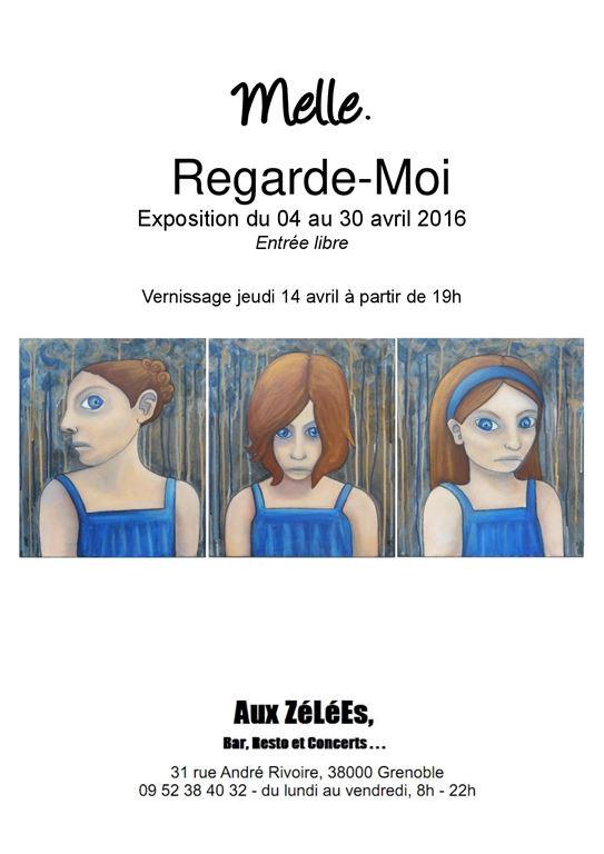 Exposition de Melle au bar les Zélées à grenoble, avril 2016