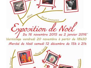 Exposition collective de Noël à l'Atelier des Arts, à Grenoble