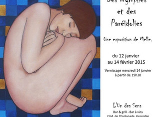 """Exposition """"Des Nymphes et des Paréidolies"""", du 12 janvier au 14 février 2015 à Grenoble"""