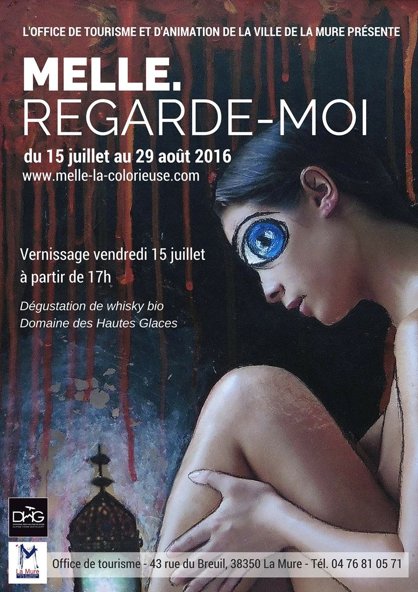 exposition office du tourisme de la mure, Melle, artiste peintre