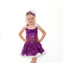 Purple sequin tap tutu child marabu feat