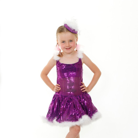 Purple sequin tap tutu child marabu feat