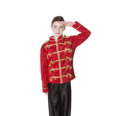 Red military toy soldier jacket boy chil