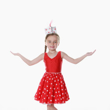 Red leo star skirt child girl 2 piece us