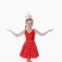 Red leo star skirt child girl 2 piece us