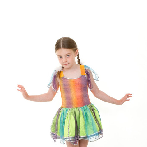 Multi swamp fairy dress tutu child.jpg