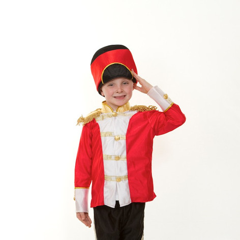 Toy soldier child red black boy panto mi