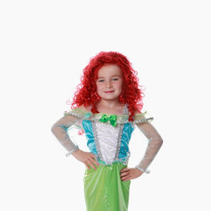 Mermaid green blue child peter pan tot s