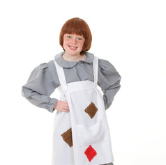 Grey orphan smock apron child annie vict