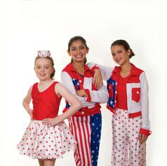 Usa stars and stripes skirt leo red whit