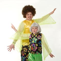 Green multo flower swirls disco trouser