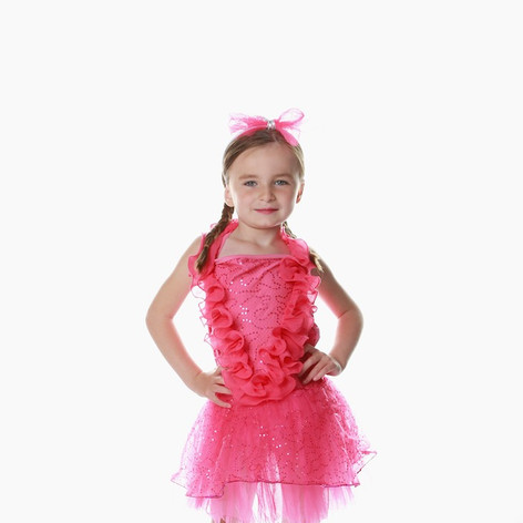 Pink ruffle sequin dress frill tutu girl
