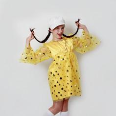 Yellow gold sequin dress spot sequin 60s