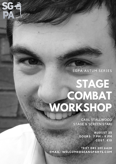 Carl Stallwood Stage Combat workshop