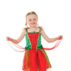 Green red fairy tutu elf christmas tots