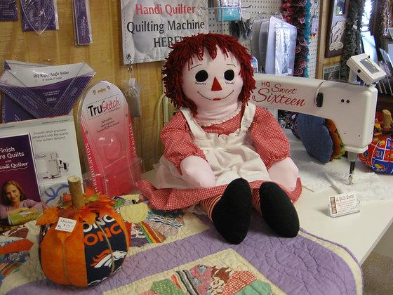 Large Raggedy Ann Doll - Handmade