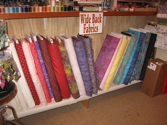 Large Selection of Wide Quilt Backs