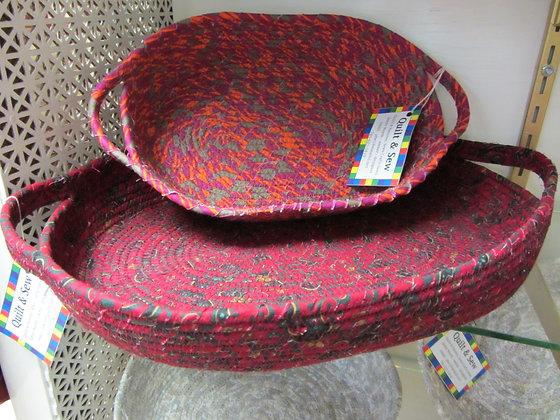 "Clothesline Art Baskets 14"" x 10""(each)"
