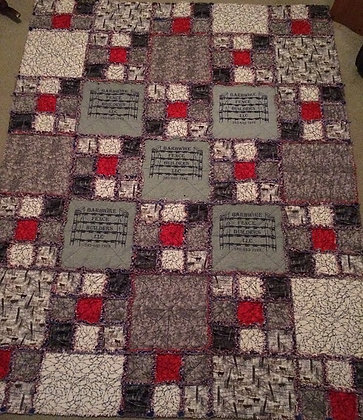 Frayed Edge T-Shirt Quilt - #1016 Pattern