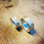 Trouwringen goud met diamant