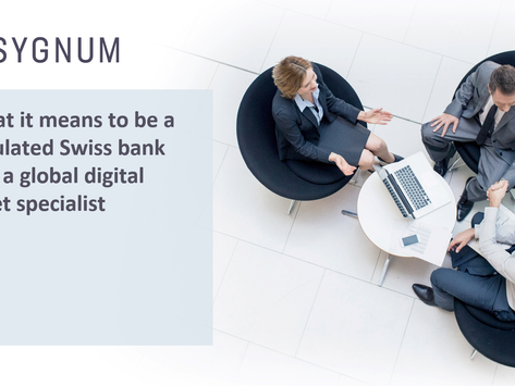 What it means to be a regulated Swiss bank and a global digital asset specialist