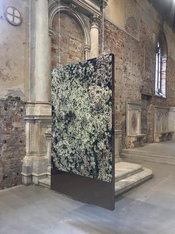 Terril Structure miroir Pièce unique 200x165 cm