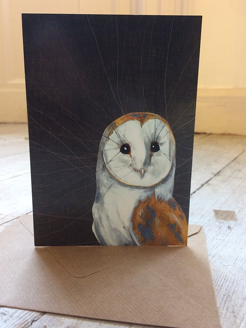 Barn Owl Greeting Cards, 5 pack