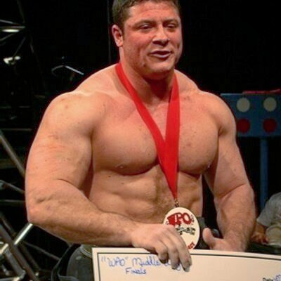 Receving my check after winning the WPO World Championship at the 2016 Arnold Classic.