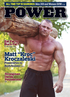 On the cover of Power Magazine. The article about me covered my transition from powerlifitng to bodybuilding.