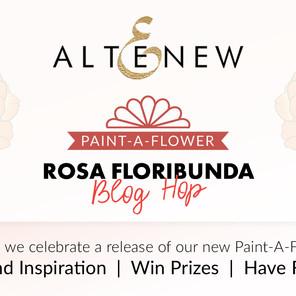 Altenew Paint-A-Flower: Rosa Floribunda Outline Stamp Set Release Blog Hop + Giveaway ($200 in Total