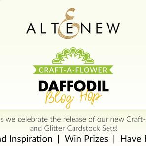 Altenew Craft-A-Flower: Daffodil & Glitter CardstockRelease Blog Hop + Giveaway