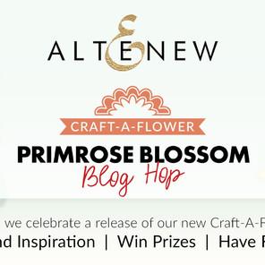 Altenew Craft-A-Flower: Primrose Blossom  Release Blog Hop + Giveaway ($200 in total prizes)