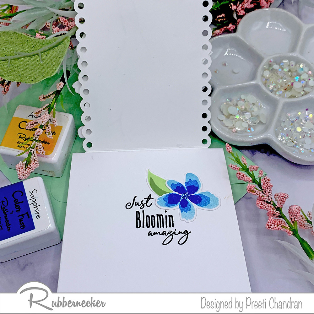 Card using Blooming vines
