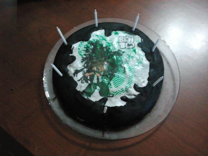 André 7 anos - 2º bolo em casa