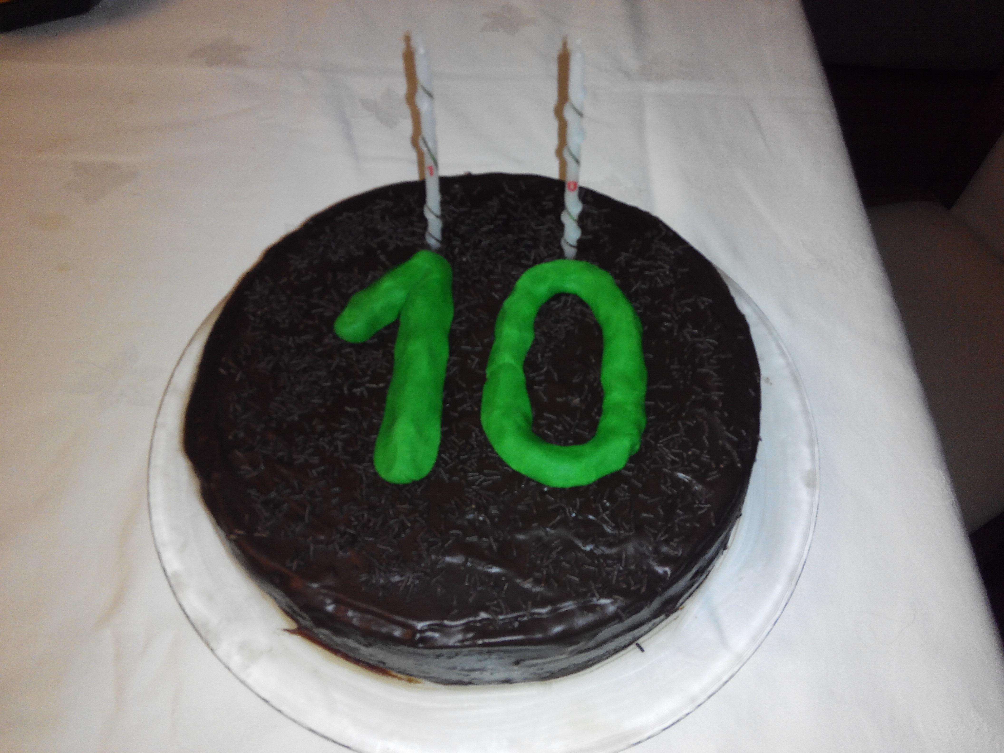 André 10 anos - bolo para casa