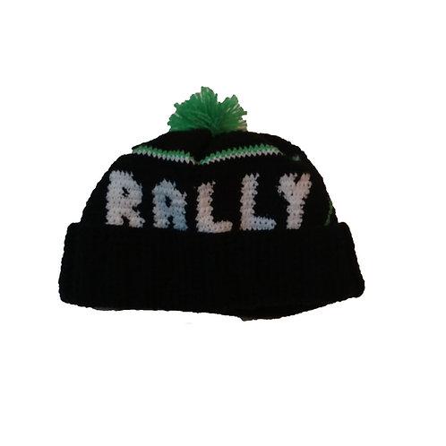 Gorro de lana tejido a mano aEX energy Rally team