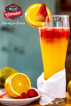 jugo naranja fresa