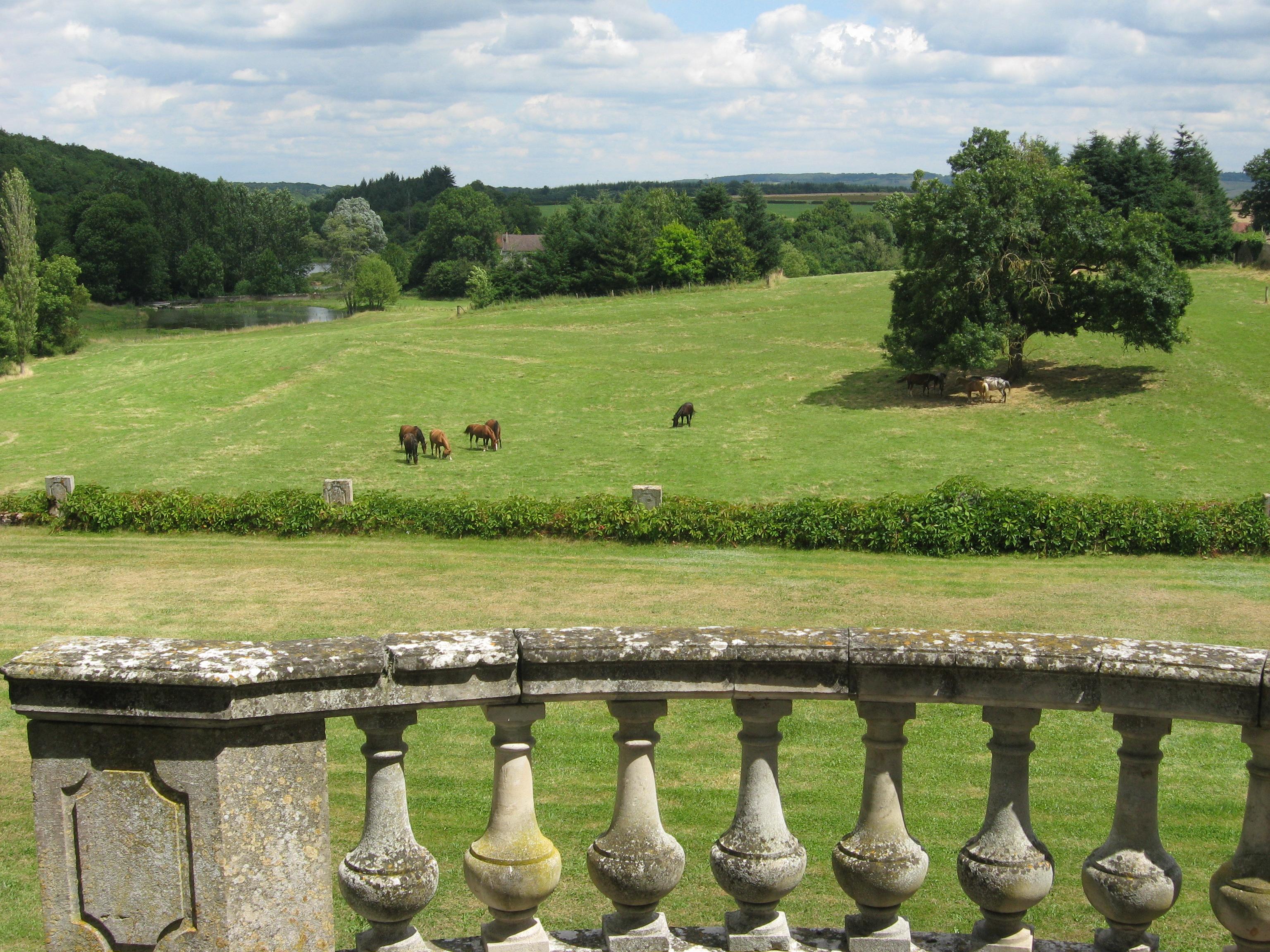 Vue sur le parc, Château de Flée