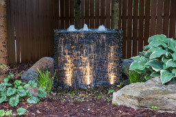 Aquascape Stacked Slate Spillway Wall