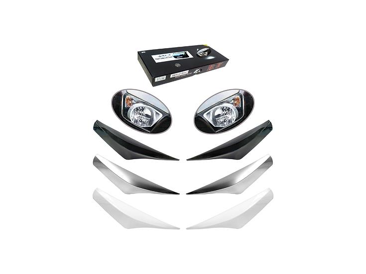 Head Lamo Lid Cover Axia (G-Spec) (Glittering Silver)