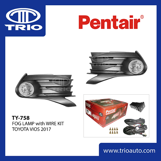 Pentair TY-758 Fog Lamp Set for TOYOTA VIOS 2017