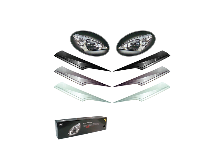 Exora Head Lamp Lid Cover (Ebony Black)
