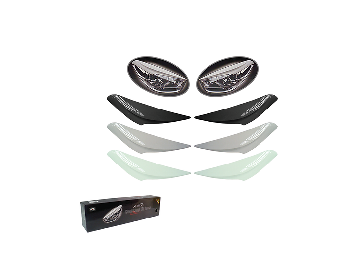 Myvi (Lagi Best) Head Lamp Lid Cover (Glittering Silver)