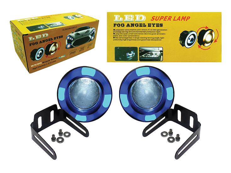 Angel Spotlights (89mm) with Blue/White Running Lights