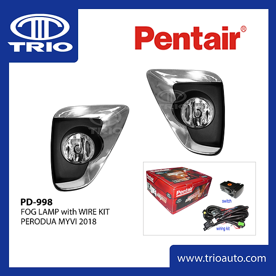 Pentair PD-998 Fog Lamp Set for PERODUA MYVI 2018
