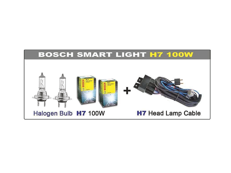 Smart Light System with Bosch H7 100W Bulb (2 pcs)